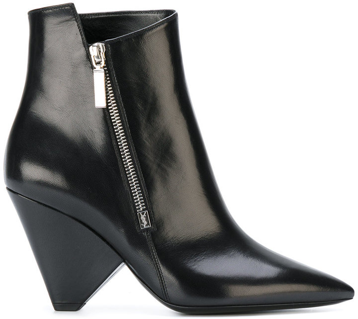 Saint Laurent Niki 85 asymmetrical boots