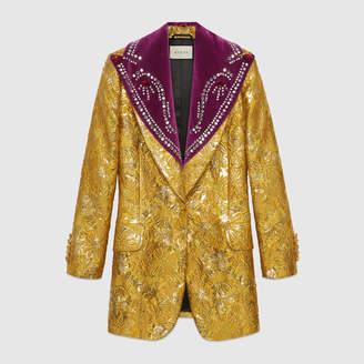 Gucci Brocade evening jacket with detachable lapel