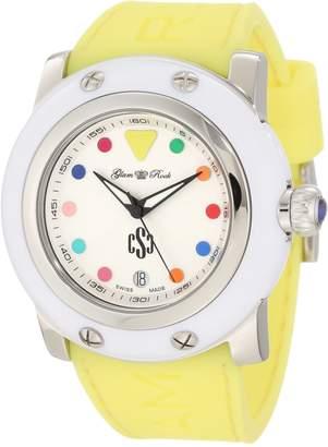 Glam Rock Women's GR1007S Miami Silver-Tone Guilloche Dial Watch