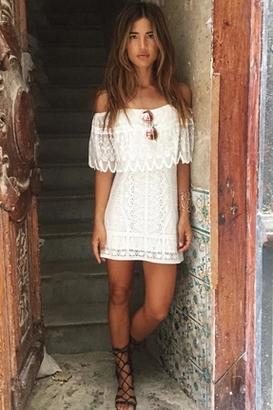 Jen's Pirate Booty Wilderness Fiesta Mini Dress in White $253 thestylecure.com