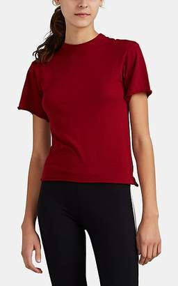 "Live The Process Women's ""Boy Tee"" Cotton-Cashmere T-Shirt - Red"