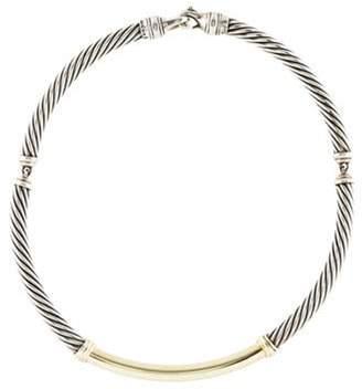 David Yurman Metro Cable Necklace silver Metro Cable Necklace