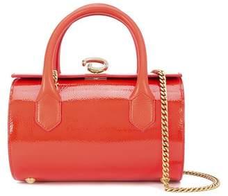 Oscar de la Renta Carnelian Leather Mini Battery Bag
