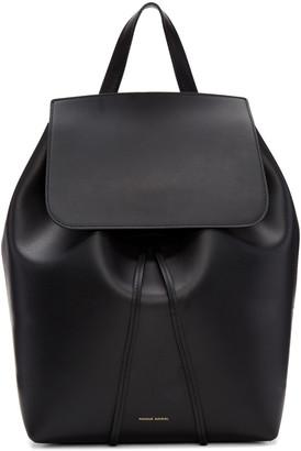 Mansur Gavriel Black Leather Backpack $895 thestylecure.com