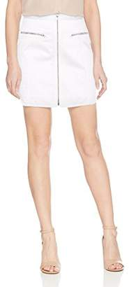 BCBGMAXAZRIA Women's Jania Cotton Zip Front Mini Skirt