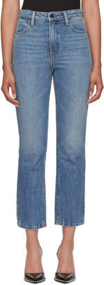 Alexander Wang Indigo Cult Cropped Straight Jeans