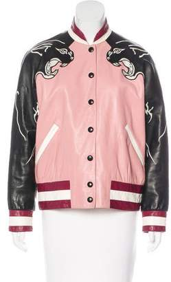 Valentino 2017 Varsity Leather Jacket