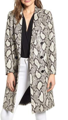 Mural Snakeskin Faux Leather Jacket