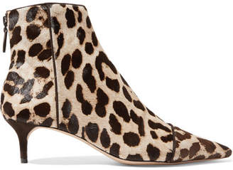 Alexandre Birman Kittie Leopard-print Calf Hair Ankle Boots - Leopard print