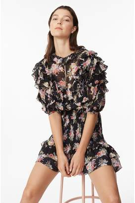 Rebecca Taylor Bouquet Floral Smocked Clip Dress