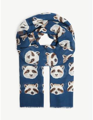 Eton Racoon and panda scarf