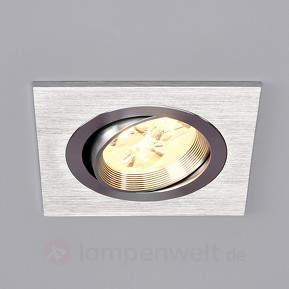 Tjark - eckige LED-Einbauleuchte aus Aluminium