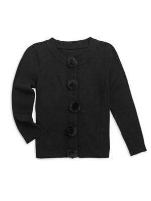 Milly Minis Little Girl's& Girl's Faux Fur Button Cardigan