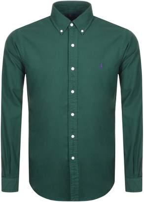Ralph Lauren Long Sleeved Slim Fit Shirt Green