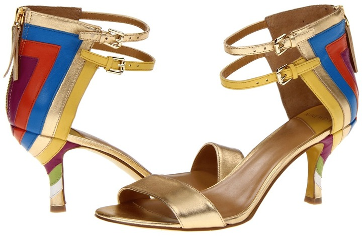 Nine West Qianna (Gold Multi Metallic) - Footwear
