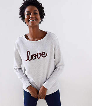 LOFT Love Sweatshirt