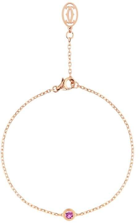 Pink Gold Saphirs Légers de Bracelet