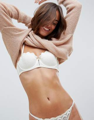 Heidi Klum Intimates balconette cupped bra in white