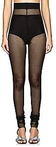 Philosophy di Lorenzo Serafini Women's Metallic Mesh Leggings - Black