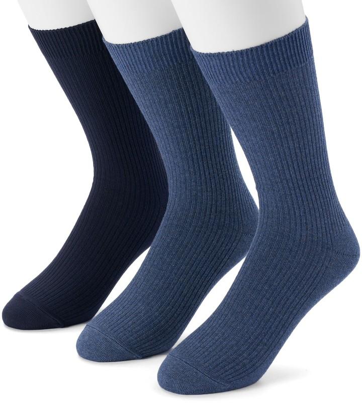 Men's Dockers 3-pack Lightweight Ribbed Crew Socks