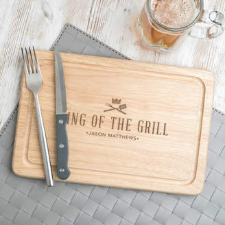 Dust and Things Personalised 'King Of The Grill' Steak Chopping Board
