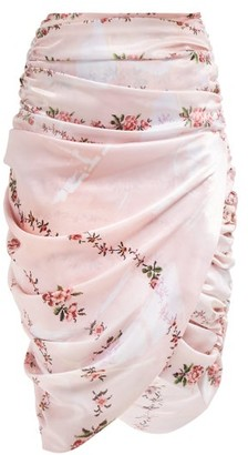Preen by Thornton Bregazzi Marion Ruched Skirt - Womens - Pink Multi