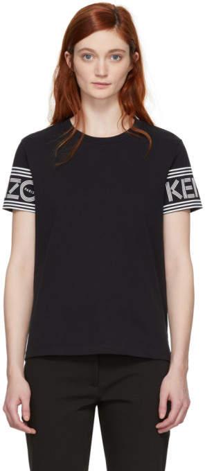 Black Sport Straight T-shirt