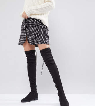 Asos DESIGN KEEP UP Flat Over The Knee Boots