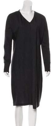 Brunello Cucinelli Virgin Wool Midi Dress