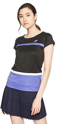 Babolat [バボラ]テニス バドミントン ゲームシャツ BTWLJA15 [レディース] ウィメンズ BK00:ブラック 日本 S (日本サイズS相当)