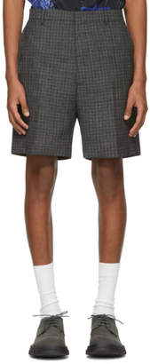 Lanvin Black and White Tailored Shorts