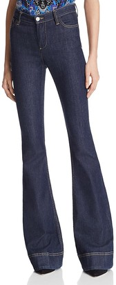 Alice + Olivia Kayleigh Bell Bottom Jeans in Dark Indigo $250 thestylecure.com