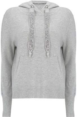 Mint Velvet Grey Embellished Hoodie