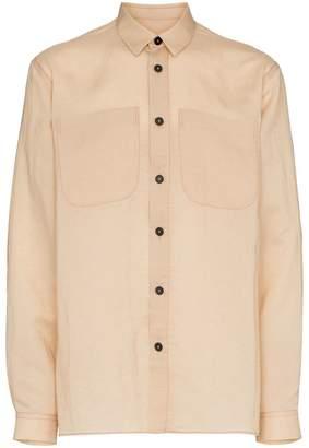 Jil Sander contrast button shirt