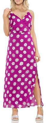 Vince Camuto Botanical Tropic A-Line Maxi Dress