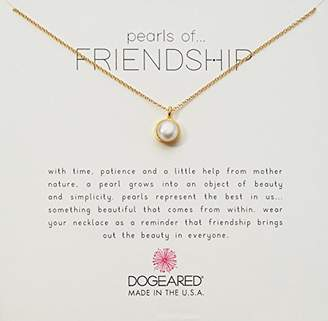 Dogeared Bezel Pearls Of Friendship Chain Necklace