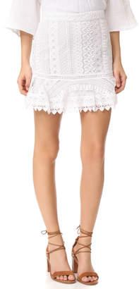BB Dakota Vera Lace Miniskirt $95 thestylecure.com