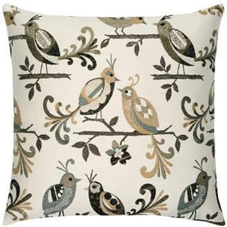 Elaine Smith Lovebirds Indoor/Outdoor Pillow