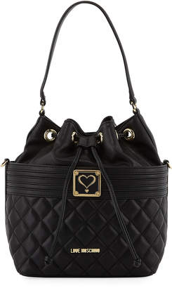 Love Moschino Quilted Faux Napa Bucket Bag
