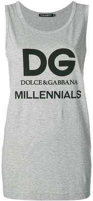 Dolce & Gabbana logo elongated tank top