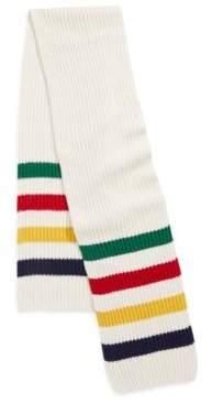Hudson's Bay Company Ribbed Wool-Blend Scarf