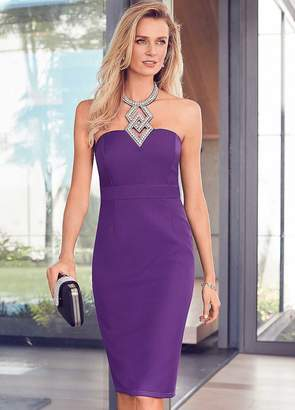 Kaleidoscope Contour Dress with Diamante Trim