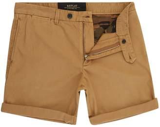 Replay Men's Garment-Dyed Twill Bermuda Shorts