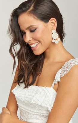 Show Me Your Mumu Deli Beaded Bridal Earrings ~ White