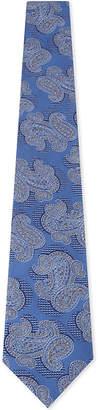 Canali Paisley print silk tie
