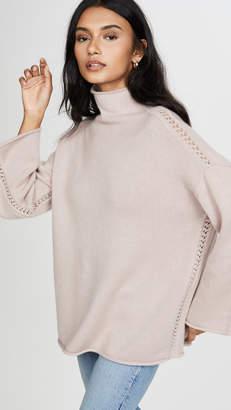 TSE Oversized Funnel Neck Sweater