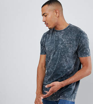 Asos DESIGN Tall relaxed longline t-shirt with pocket in acid wash