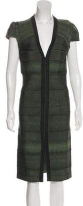 Herve Leger Structured Bodycon Dress