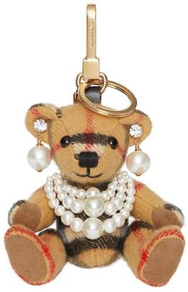 Burberry Thomas Bear Charm with Faux Pearls