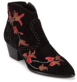 Ash Heidi Embroidered Suede Booties